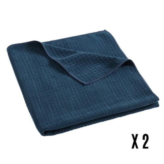DRAP MOSAÏC BLUE JEAN - LOT DE 2